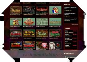 faktura betalning på tropezia palace casino